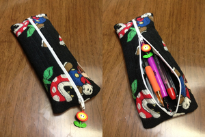 Paper Mario Pencil Pouch by BritRo