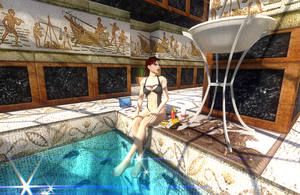 Lunch at the pool by tombraider4ever