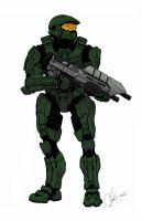 Master Chief Halo 4 by Art-Minion-Andrew0
