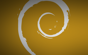 Debian Silver And Gold Just Swirl Wallpaper by mdosch