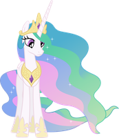 Nonplussed Princess Celestia by 90Sigma