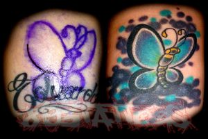 COVER UP EX NAME by gil893tattoos