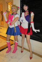 Sailor Moon and Sailor Mars by jpop52