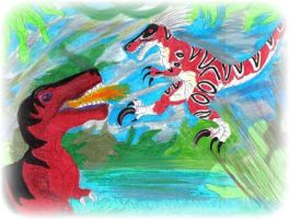 Primal RAGE  - 2006 drawing by CrystalMarineGallery