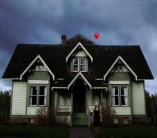 Red Balloon by Musterkatze