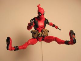 Skottie Young Deadpool Leaping by Baker009