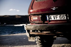 lada niva saturated to blue by biohazardemre