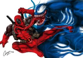 Deadpool Vs Venom by CLEMZ