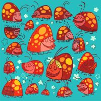 Happy Lady Bugs, iPod skinni by illuSTOJA
