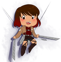 Attack on Titan OC - Sarina chibi by JordanDonges by Purly