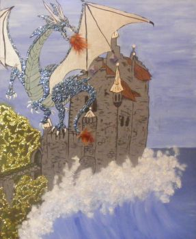 The Dragon and the Castle by The Sea by TheElegantFaerie