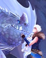 Dragon Guardian (httyd!Jack Frost) by KT-ExReplica