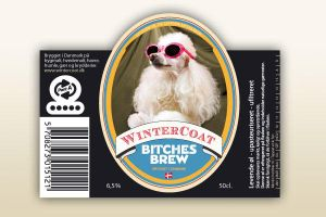 Bitches Brew beer label by helbo