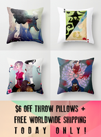 $6 Off Throw Pillows + Free Shipping on Society6! by TheQueenSerena