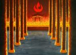 Fire Lord's throne room by Meralia