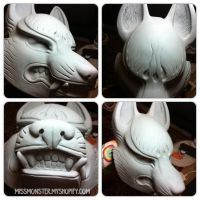Kitsune mask raw cast by missmonster