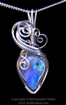 Aurora Moonstone Pendant by Nambroth