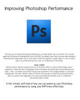 Improve Photoshop Performance by Gloria-Gypsy-Designs