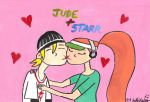 Jude and Starr kissing by DJgames