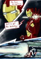 Iron Man vs. Captain America Pg. 2 by Amaterasuscorp1