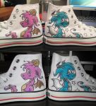 Dragon Painted Coverse Shoes by kazzycaboodles
