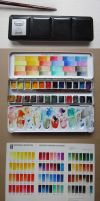 W+N Artists' Water Colours with handmade Chart by pesim65