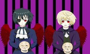 Ciel And Alois As Demons by HinamiArt