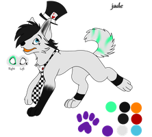 Jade The Wolf Ref by badcatz129