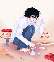 .:Commission:. Detective with a sweet tooth. by Amai-Kawaii