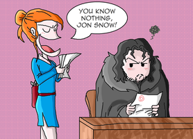 You know nothing, Jon Snow! by Targaryen1986