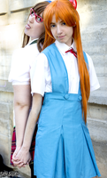 Asuka and Mari - Evangelion by Tifa-Lock