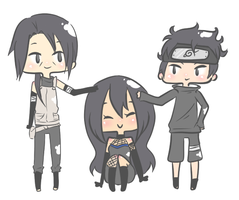 Itachi, Akua and Shisui by Erenii