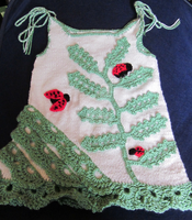 Handmade Girl Crochet Dress With Ladybugs by MagicalString