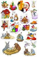 .:Christmas clipart:. by Loisa
