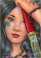 Reticence - ACEO by MJWilliam