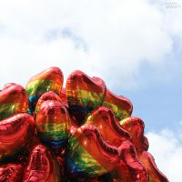 Gay Pride balloons by AuroraxCore