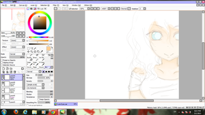 WIP~ Aoi . Girl with Blue eyes. by DanAniiMangApple