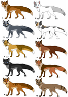 Fox adopts: batch 1 - All sold by KaiserTiger