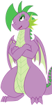 Amused Adult Spike by tyler611