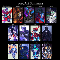 2015 Art Summary by LillinApocalypse
