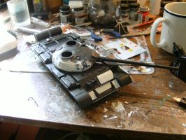 Tamiya 1/35 T-62 Progress report 2.2.3 by DelosQAndrews
