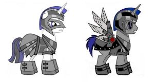 MLP OC: Riot Guard and Artificial Alicorn Guard by PopPixieRex