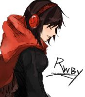 Ruby Rose Headphones [RWBY] by ElectrokineticArtest