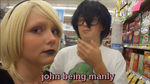 john being manly by AnimeAlmonds
