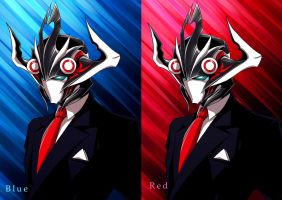The new Doctor Zexxck: Blue and Red version by DoctorZexxck