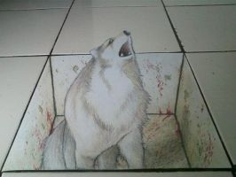 3d wolf in my floor by vioem