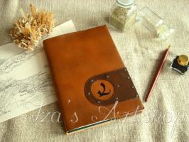 Myst-themed Leather Notebook by izasartshop