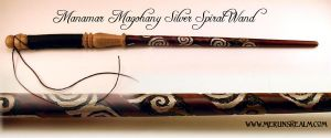 Manamar Silver Spiral Wand by MerlinOfManitou