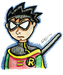 Serious Looking Robin From Teen Titans by chelano