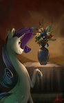 Rare vase of flowers by Alumx